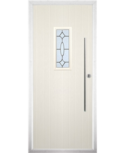 The Zetland Composite Door in Cream with Zinc Art Clarity