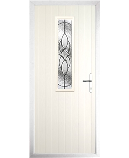The Sheffield Composite Door in Cream with Zinc Art Elegance