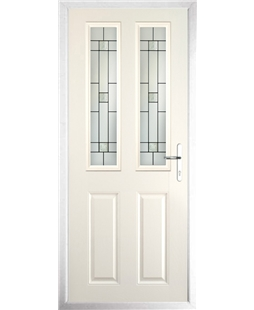 The Cardiff Composite Door in Cream with Tate
