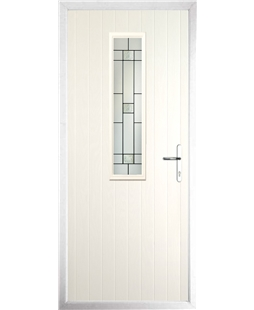 The Sheffield Composite Door in Cream with Tate