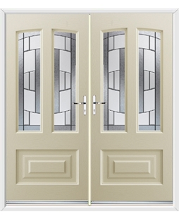 Illinois French Rockdoor in Cream with Inspire