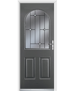 Ultimate Kentucky Rockdoor in Slate Grey with Crystal Bevel