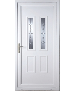 Irvine Clear Crystal uPVC High Security Door