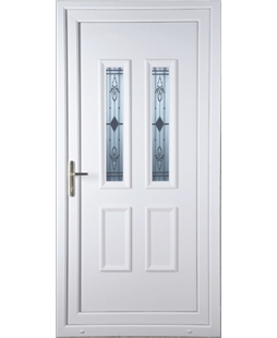 Irvine Sandblast Bevel uPVC Door