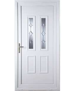 Irvine Star Cut Bevel uPVC High Security Door