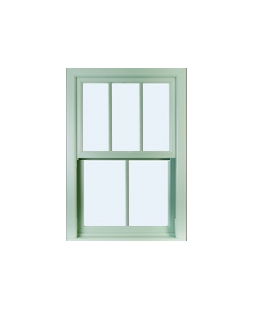 West Yorkshire uPVC Sliding Sash Window in Chartwell Green