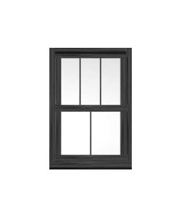 West Yorkshire uPVC Sliding Sash Window in Anthracite Grey