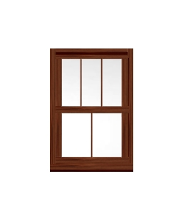 West Yorkshire uPVC Sliding Sash Window in Rosewood
