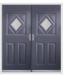 Diamond French Rockdoor in Anthracite Grey with Glazing