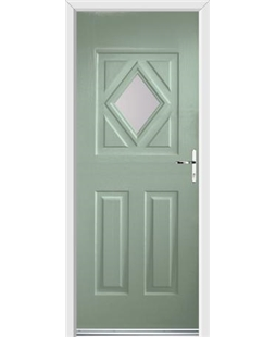 Ultimate Diamond Rockdoor in Chartwell Green with Glazing