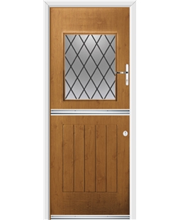 Ultimate Stable View Rockdoor in Irish Oak with Diamond Lead