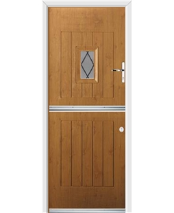 Ultimate Stable Spy Rockdoor in Irish Oak with Diamond Lead