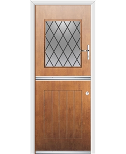 Ultimate Stable View Rockdoor in Light Oak with Diamond Lead