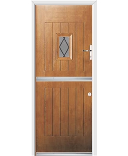 Ultimate Stable Spy Rockdoor in Light Oak with Diamond Lead