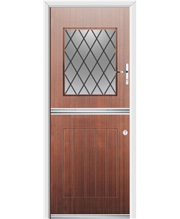 Ultimate Stable View Rockdoor in Mahogany with Diamond Lead