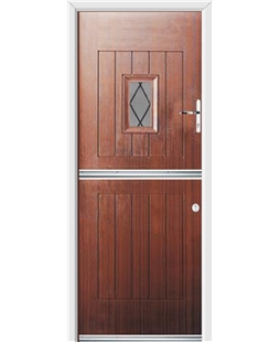 Ultimate Stable Spy Rockdoor in Mahogany with Diamond Lead