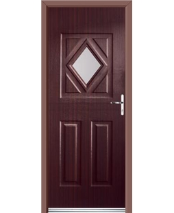 Ultimate Diamond Rockdoor in Mahogany with Glazing