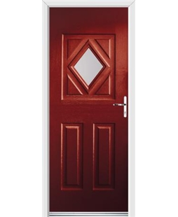 Ultimate Diamond Rockdoor in Ruby Red with Glazing