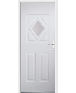 Ultimate Diamond Rockdoor in White with Glazing