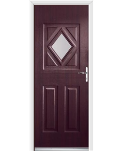Ultimate Diamond Rockdoor in Rosewood with Glazing