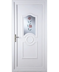 Johnstone Clear Resin Rose uPVC Door