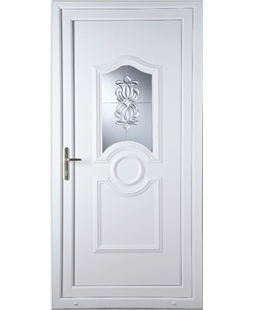 Johnstone Oxford Crystal uPVC High Security Door