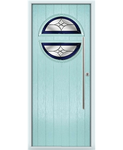 The Xenia Composite Door in Blue (Duck Egg) with Blue Crystal Harmony