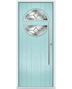 The Xenia Composite Door in Blue (Duck Egg) with Simplicity