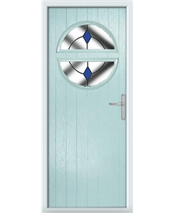 The Queensbury Composite Door in Blue (Duck Egg) with Blue Diamonds