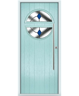 The Xenia Composite Door in Blue (Duck Egg) with Blue Diamonds