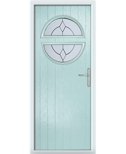 The Queensbury Composite Door in Blue (Duck Egg) with Classic Glazing