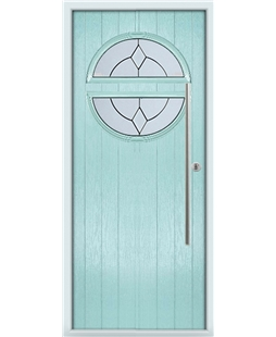 The Xenia Composite Door in Blue (Duck Egg) with Classic Glazing