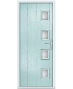 The Preston Composite Door in Blue (Duck Egg) with Clear Glazing