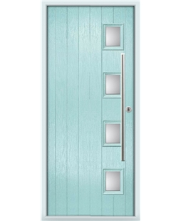 The Norwich Composite Door in Blue (Duck Egg) with Clear Glazing
