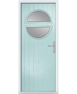 The Queensbury Composite Door in Blue (Duck Egg) with Clear Glazing