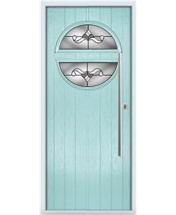 The Xenia Composite Door in Blue (Duck Egg) with Crystal Bohemia Frost