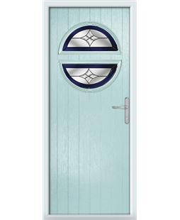 The Queensbury Composite Door in Blue (Duck Egg) with Blue Crystal Harmony