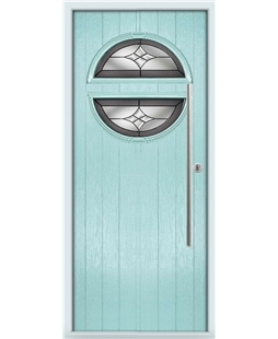 The Xenia Composite Door in Blue (Duck Egg) with Crystal Harmony Frost