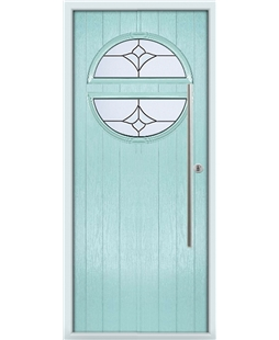 The Xenia Composite Door in Blue (Duck Egg) with Crystal Tulip Arch