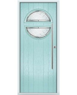 The Xenia Composite Door in Blue (Duck Egg) with Diamond Cut