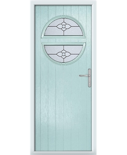 The Queensbury Composite Door in Blue (Duck Egg) with Finesse Glazing