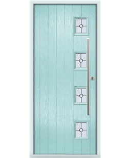 The Norwich Composite Door in Blue (Duck Egg) with Finesse Glazing