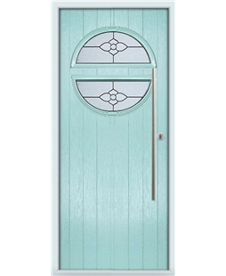 The Xenia Composite Door in Blue (Duck Egg) with Finesse Glazing