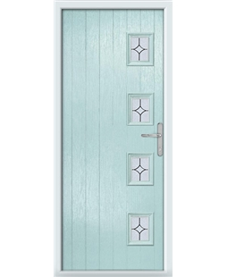 The Preston Composite Door in Blue (Duck Egg) with Flair Glazing