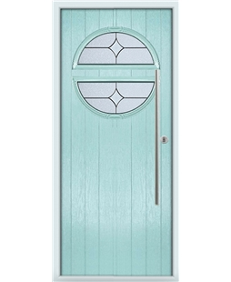 The Xenia Composite Door in Blue (Duck Egg) with Flair Glazing