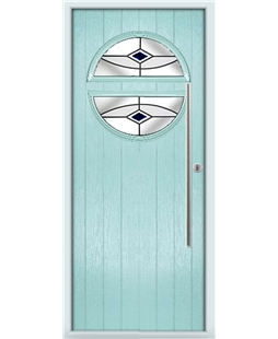 The Xenia Composite Door in Blue (Duck Egg) with Black Fusion Ellipse