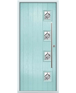 The Norwich Composite Door in Blue (Duck Egg) with Simplicity