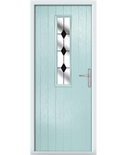 The Sheffield Composite Door in Blue (Duck Egg) with Black Diamonds