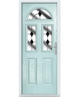 The Glasgow Composite Door in Blue (Duck Egg) with Black Diamonds