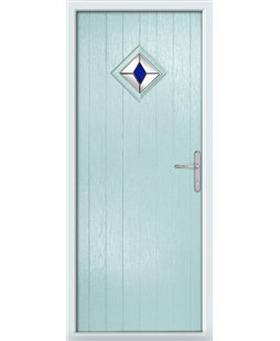 The Reading Composite Door in Blue (Duck Egg) with Blue Diamonds
